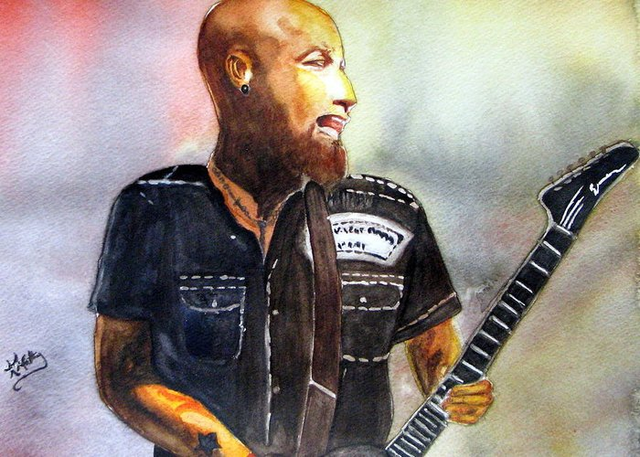 Musician Greeting Card featuring the painting The Rocker by Karla Mathey