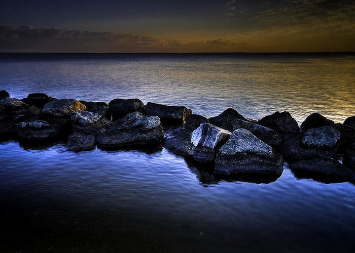 Hdr Greeting Card featuring the photograph The Rocks by E R Smith