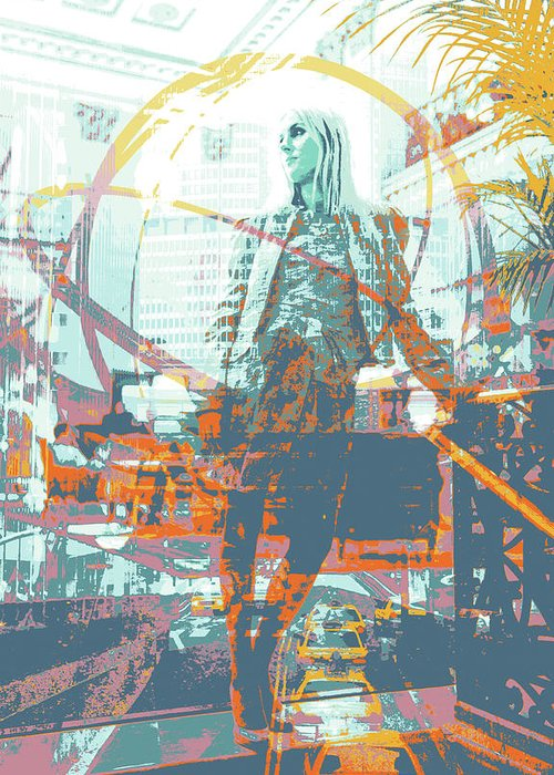 New York Greeting Card featuring the mixed media The Roosevelt by Shay Culligan
