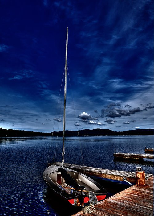 Sailboats At The Dock Digital Art Greeting Cards