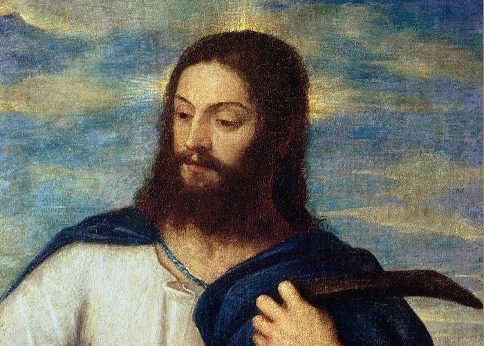 The Greeting Card featuring the painting The Savior by Titian