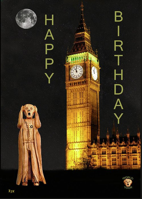 The Scream World Tour London Happy Birthday Greeting Card For Sale