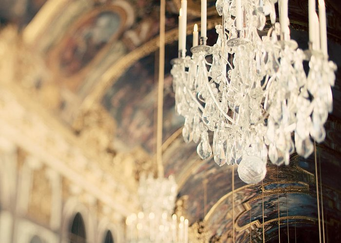 Chandelier Greeting Card featuring the photograph The Secret History by Irene Suchocki