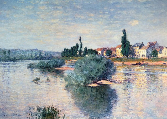 River Greeting Card featuring the painting The Seine At Lavacourt by Claude Monet