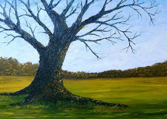 Landscape Greeting Card featuring the painting The Sentinel by Tami Booher