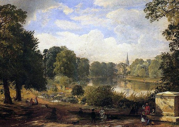 Jasper Francis Cropsey Greeting Card featuring the painting The Serpentine by Jasper Francis Cropsey