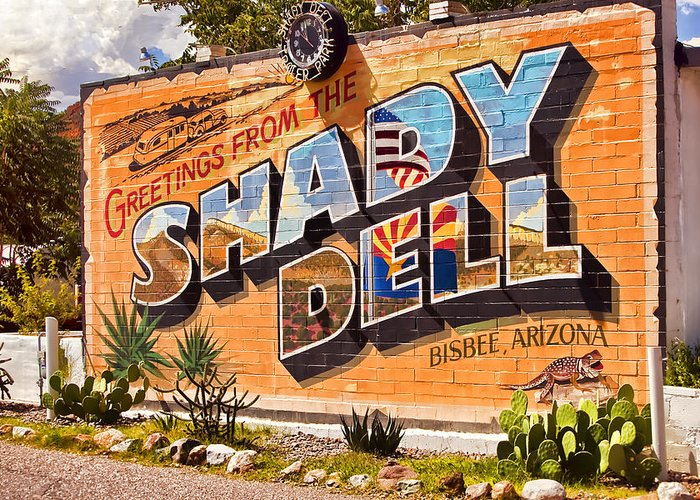 Bisbee Greeting Card featuring the photograph The Shady Dell Bisbee Az by Lynn Andrews