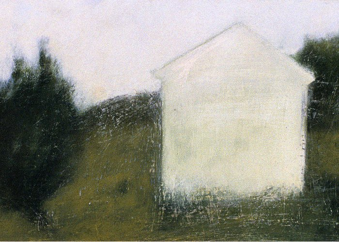 Landscape Greeting Card featuring the painting The Shed by Ruth Sharton