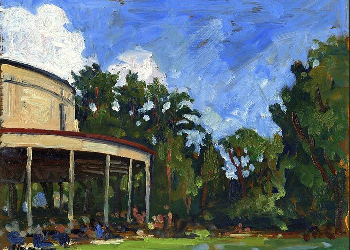 Landscape- Greeting Card featuring the painting The Shed Tanglewood by Thor Wickstrom