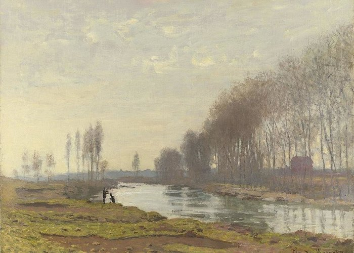 Claude Monet (french Greeting Card featuring the digital art The Small Branch Of The Seine At Argenteuil by Mark Carlson
