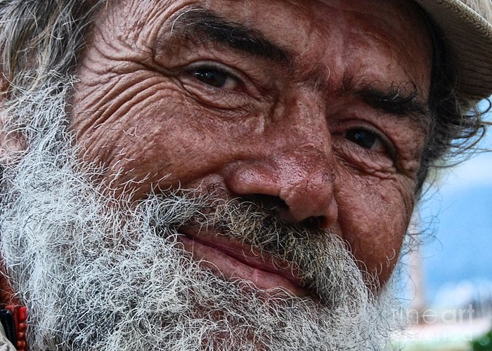 Homeless Greeting Card featuring the photograph The Smile Of Life by Erhan OZBIYIK