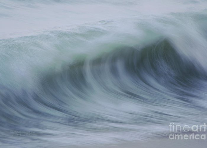 Waves Greeting Card featuring the photograph The Softness Of Being A Wave by Jeanne McGee