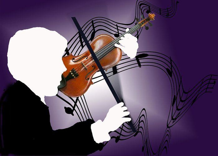 Violin Greeting Card featuring the digital art The Soloist by Steve Karol