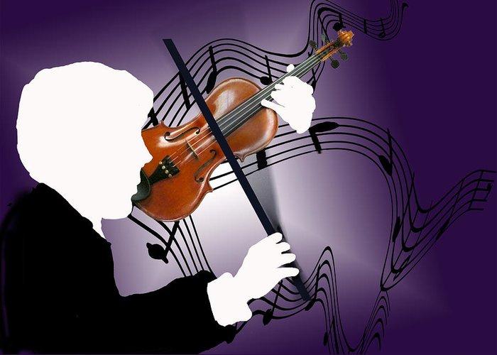 Violin Greeting Card featuring the digital art The Soloist by Steve Karol