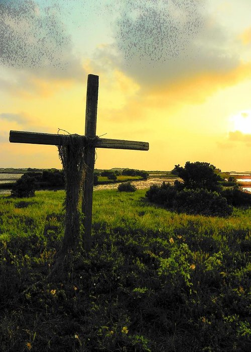 Cedar Key Greeting Card featuring the photograph The Son And Sunset by Sheri McLeroy