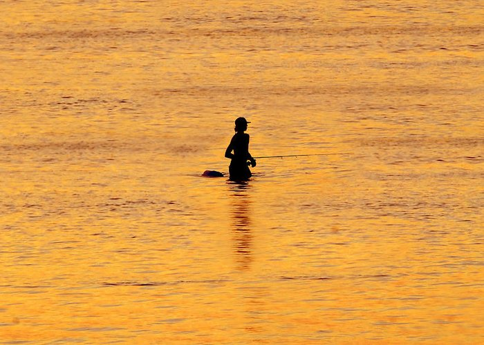 Fishing Greeting Card featuring the photograph The Son Of A Fisherman by David Lee Thompson