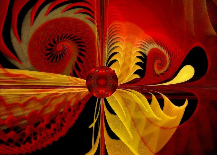 Fractal Greeting Card featuring the digital art The Soul Sees What Is Within by Gayle Odsather