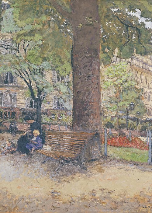 The Greeting Card featuring the painting The Square At Vintimille by Edouard Vuillard