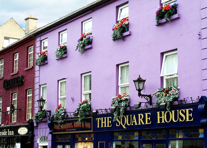 Irish Greeting Card featuring the photograph The Square House Athlone Ireland by Teresa Mucha