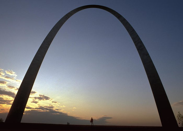 Landmark Greeting Card featuring the photograph The St. Louis Arch by Carl Purcell