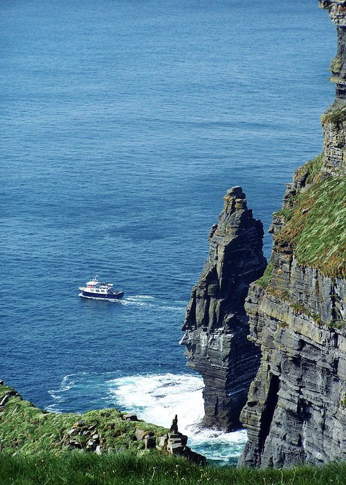Irish Greeting Card featuring the photograph The Stack And The Jack B Cliffs Of Moher Ireland by Teresa Mucha