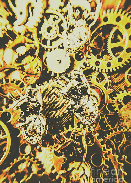 Design Greeting Card featuring the photograph The Steampunk Heart Design by Jorgo Photography - Wall Art Gallery