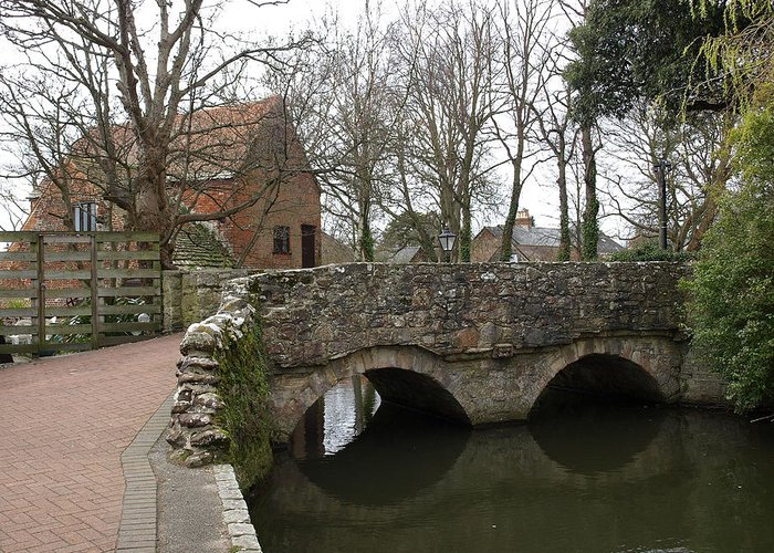 Bridges Greeting Card featuring the photograph The Stone Bridge by Richard Denyer