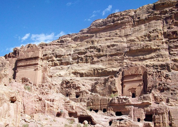Petra Greeting Card featuring the photograph The Stone City by Munir Alawi