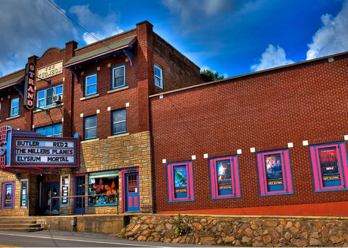 The Strand Theatre Greeting Card featuring the photograph The Strand Theatre - Old Forge New York by David Patterson