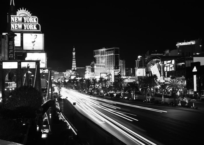 Vegas Greeting Card featuring the photograph The Strip by Rich Tanguay