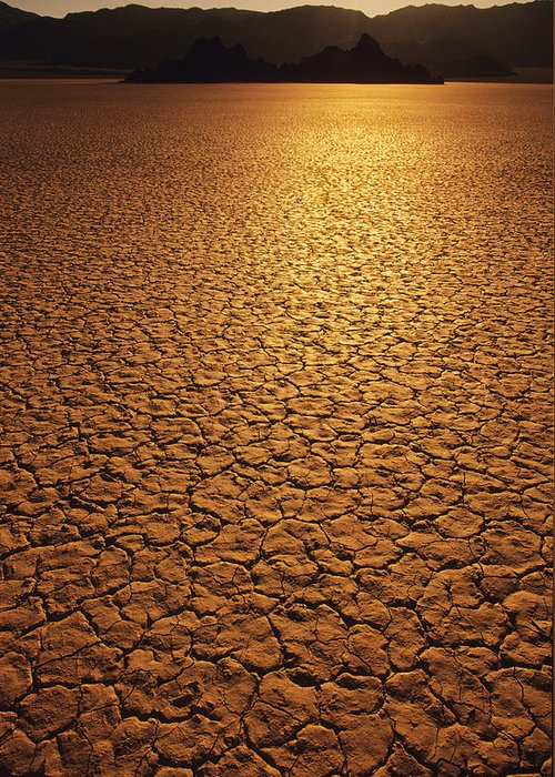 Nobody Greeting Card featuring the photograph The Sun Reflects Off This Parched Lake by Bill Hatcher