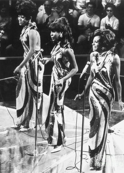 1963 Greeting Card featuring the photograph The Supremes, C1963 by Granger