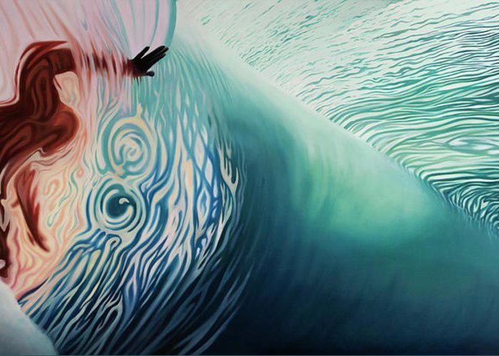 Surf The Rincon Paintings Greeting Cards