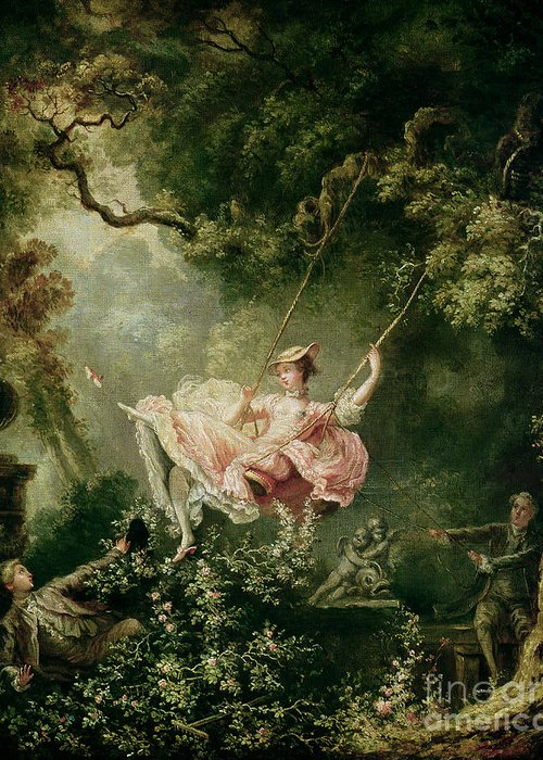 The Greeting Card featuring the painting The Swing by Jean-Honore Fragonard