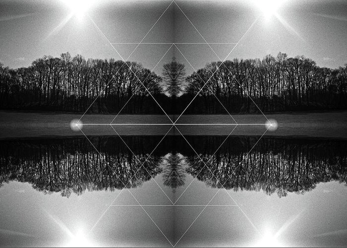 Mixed Media Photography Greeting Card featuring the photograph The Symmetry Of Light by Jennifer Graham