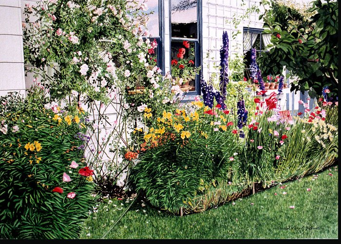Gardens Greeting Card featuring the painting The Tangled Garden by David Lloyd Glover