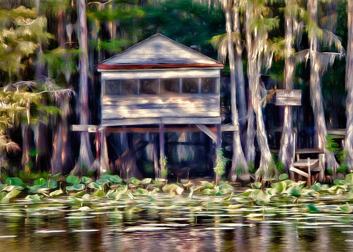 bald Cypress Greeting Card featuring the photograph The Tea Room by Lana Trussell