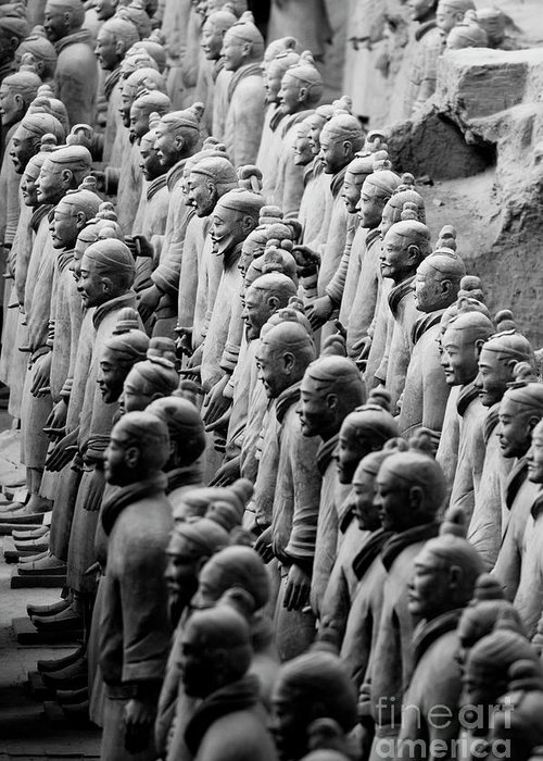 Ancient Greeting Card featuring the photograph The Terracotta Army by Sami Sarkis