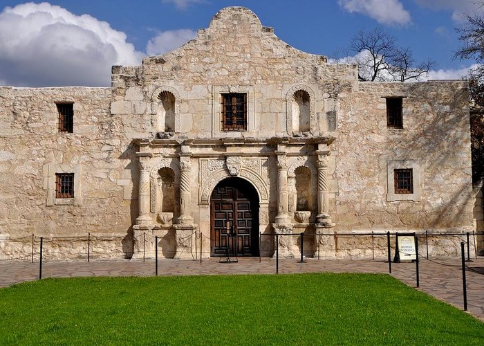 Texas Greeting Card featuring the photograph The Texas Alamo by Kristina Deane