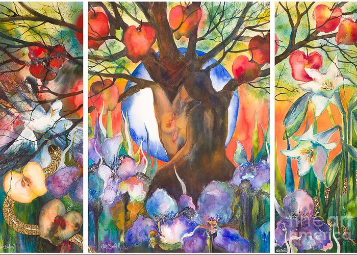Tree Of Life Greeting Card featuring the painting The Tree Of Life by Kate Bedell