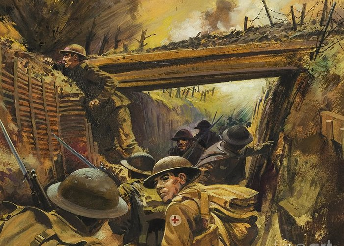 Trench Warfare Greeting Cards
