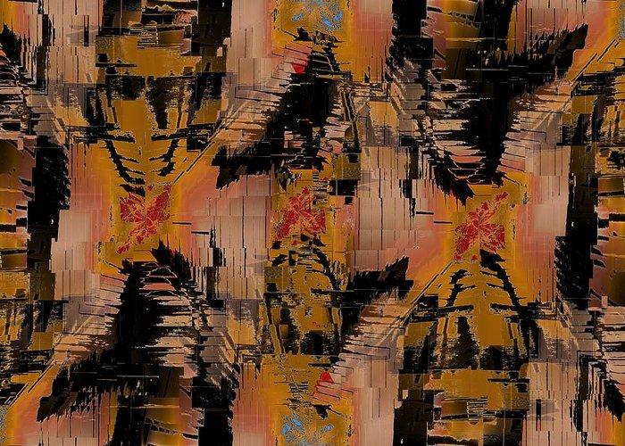 Turmoil Greeting Card featuring the digital art The Turmoil Within by Tim Allen