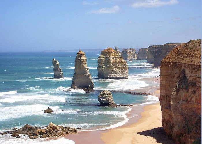 Australia Greeting Card featuring the photograph The Twelve Apostles by Eena Bo