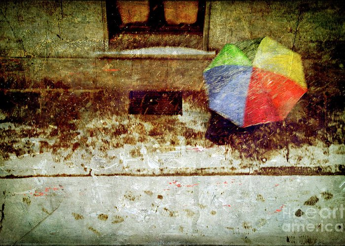 Umbrella Greeting Card featuring the photograph The Umbrella by Silvia Ganora
