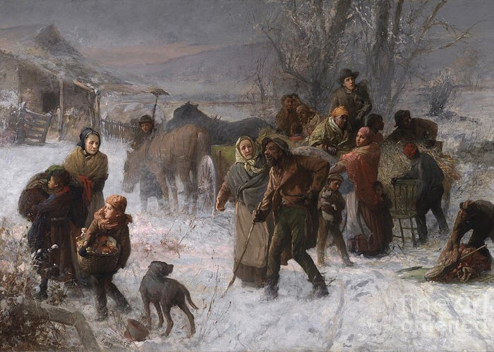 Abolition Greeting Card featuring the painting The Underground Railroad by Charles T Webber