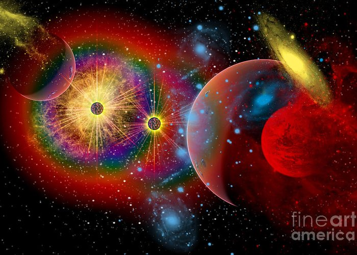Concept Greeting Card featuring the digital art The Universe In A Perpetual State by Mark Stevenson