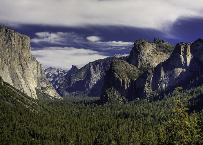 Yosemite Greeting Card featuring the photograph The Valley by Jim Riel