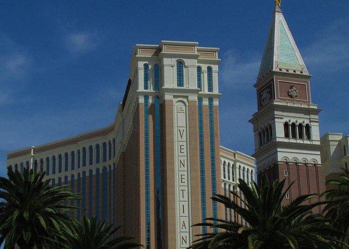 Las Vegas Greeting Card featuring the photograph The Venetian, Las Vegas by David Burns