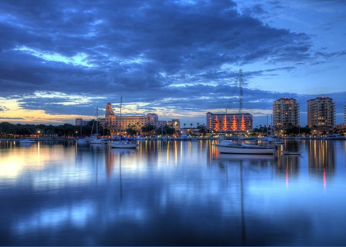 St. Petersburg Greeting Card featuring the photograph The Vinoy I by Bao D