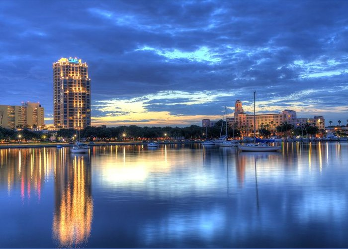 St. Petersburg Greeting Card featuring the photograph The Vinoy II by Bao D